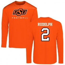 Men's Mason Rudolph Oklahoma State Cowboys Football Long Sleeve T-Shirt - Orange