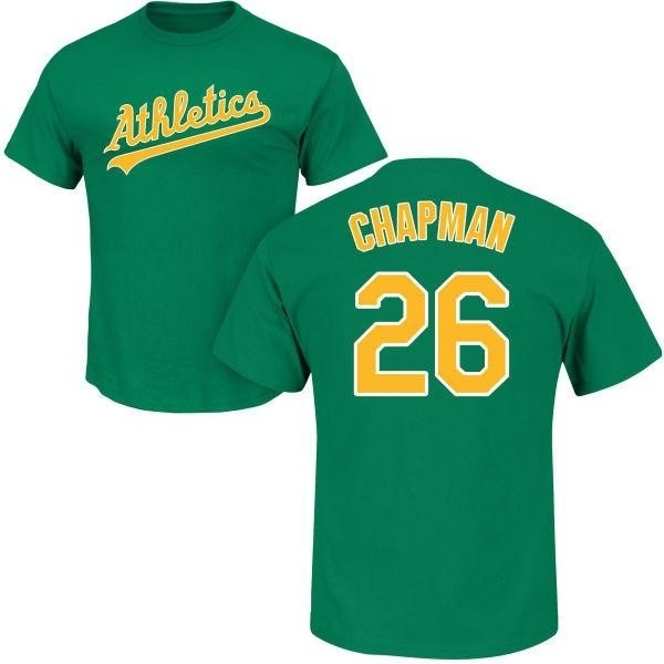 quality design f4495 3e1c2 Men's Matt Chapman Oakland Athletics Roster Name & Number T-Shirt - Green -  Teams Tee