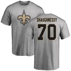 Men's Matt Shaughnessy New Orleans Saints Name & Number Logo T-Shirt - Ash
