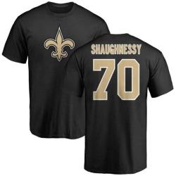 Men's Matt Shaughnessy New Orleans Saints Name & Number Logo T-Shirt - Black