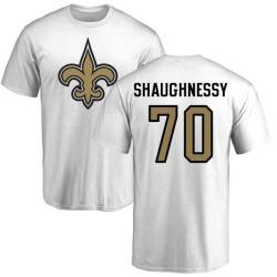 Men's Matt Shaughnessy New Orleans Saints Name & Number Logo T-Shirt - White