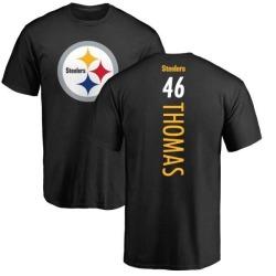 Men's Matthew Thomas Pittsburgh Steelers Backer T-Shirt - Black