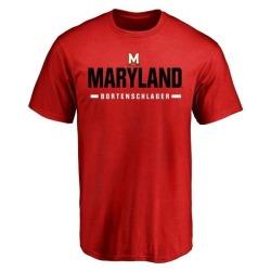 Men's Max Bortenschlager Maryland Terrapins Sport Wordmark T-Shirt - Red