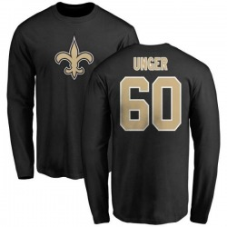 Men's Max Unger New Orleans Saints Name & Number Logo Long Sleeve T-Shirt - Black