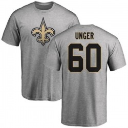 Men's Max Unger New Orleans Saints Name & Number Logo T-Shirt - Ash