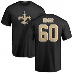 Men's Max Unger New Orleans Saints Name & Number Logo T-Shirt - Black