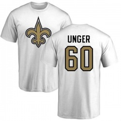 Men's Max Unger New Orleans Saints Name & Number Logo T-Shirt - White