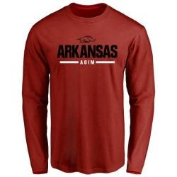 Men's McTelvin Agim Arkansas Razorbacks Sport Wordmark Long Sleeve T-Shirt - Cardinal