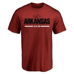 Men's McTelvin Agim Arkansas Razorbacks Sport Wordmark T-Shirt - Cardinal