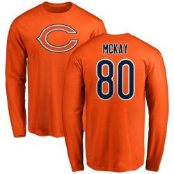 Men's Mekale McKay Chicago Bears Name & Number Logo Long Sleeve T-Shirt - Orange