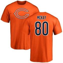 Men's Mekale McKay Chicago Bears Name & Number Logo T-Shirt - Orange