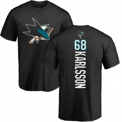 Men's Melker Karlsson San Jose Sharks Backer T-Shirt - Black