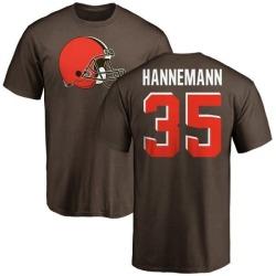 Men's Micah Hannemann Cleveland Browns Name & Number Logo T-Shirt - Brown
