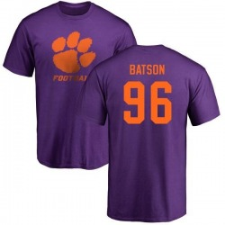 Men's Michael Batson Clemson Tigers One Color T-Shirt - Purple