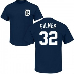Men's Michael Fulmer Detroit Tigers Roster Name & Number T-Shirt - Navy