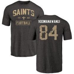 Men's Michael Hoomanawanui New Orleans Saints Black Distressed Name & Number Tri-Blend T-Shirt