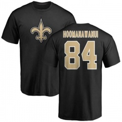 Men's Michael Hoomanawanui New Orleans Saints Name & Number Logo T-Shirt - Black