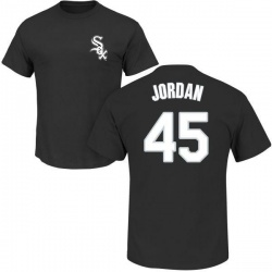 Men's Michael Jordan Chicago White Sox Roster Name & Number T-Shirt - Black