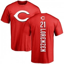 Men's Michael Lorenzen Cincinnati Reds Backer T-Shirt - Red