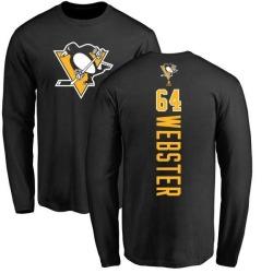 Men's Michael Webster Pittsburgh Penguins Backer Long Sleeve T-Shirt - Black