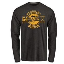 Men's Michael Webster Pittsburgh Penguins Insignia Tri-Blend Long Sleeve T-Shirt - Black
