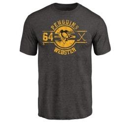 Men's Michael Webster Pittsburgh Penguins Insignia Tri-Blend T-Shirt - Black