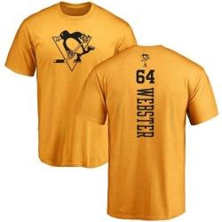 Men's Michael Webster Pittsburgh Penguins One Color Backer T-Shirt - Gold