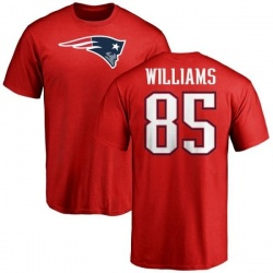 Men's Michael Williams New England Patriots Name & Number Logo T-Shirt - Red
