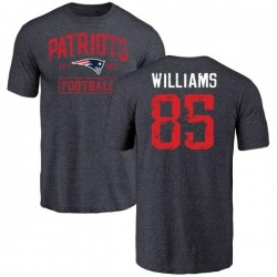 Men's Michael Williams New England Patriots Navy Distressed Name & Number Tri-Blend T-Shirt