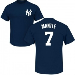 Men's Mickey Mantle New York Yankees Roster Name & Number T-Shirt - Navy
