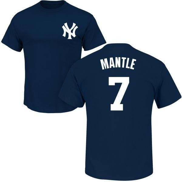 quality design 84dc6 d1dc6 Men's Mickey Mantle New York Yankees Roster Name & Number T-Shirt - Navy -  Teams Tee