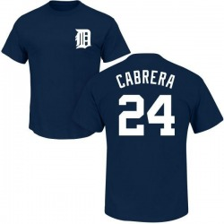 Men's Miguel Cabrera Detroit Tigers Roster Name & Number T-Shirt - Navy