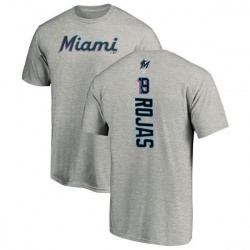Men's Miguel Rojas Miami Marlins Backer T-Shirt - Ash