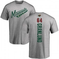 Men's Mikael Granlund Minnesota Wild Backer T-Shirt - Ash