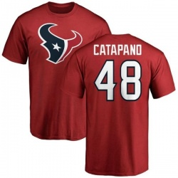 Men's Mike Catapano Houston Texans Name & Number Logo T-Shirt - Red