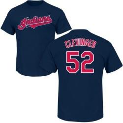 Men's Mike Clevinger Cleveland Indians Roster Name & Number T-Shirt - Navy
