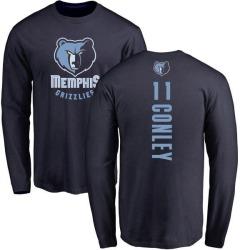 Men's Mike Conley Memphis Grizzlies Navy Backer Long Sleeve T-Shirt