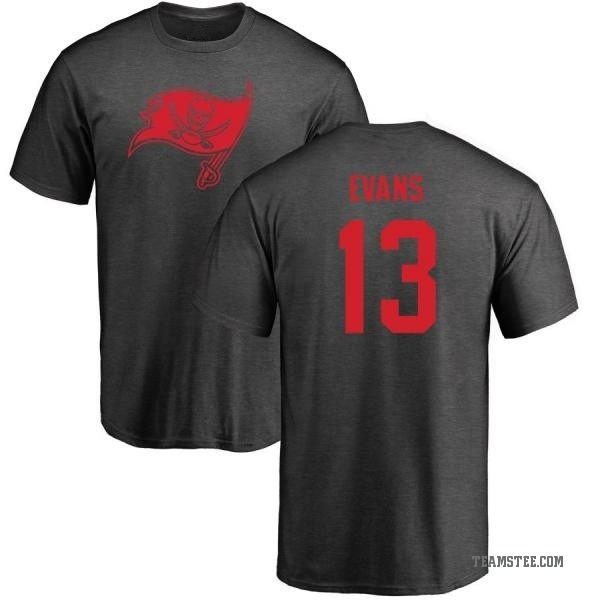 factory authentic bcc55 15586 Men's Mike Evans Tampa Bay Buccaneers One Color T-Shirt - Ash - Teams Tee