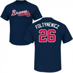 Men's Mike Foltynewicz Atlanta Braves Roster Name & Number T-Shirt - Navy
