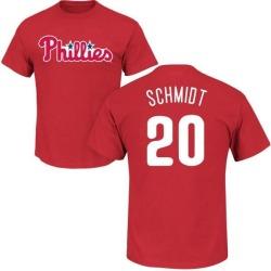 Men's Mike Schmidt Philadelphia Phillies Roster Name & Number T-Shirt - Red