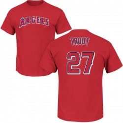 Men's Mike Trout Los Angeles Angels Roster Name & Number T-Shirt - Red