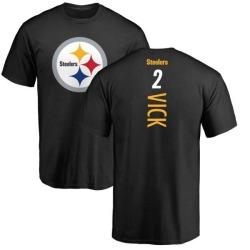 Men's Mike Vick Pittsburgh Steelers Backer T-Shirt - Black