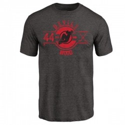 Men's Miles Wood New Jersey Devils Insignia Tri-Blend T-Shirt - Black