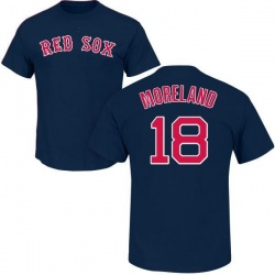 Men's Mitch Moreland Boston Red Sox Roster Name & Number T-Shirt - Navy