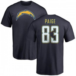 Men's Mitchell Paige Los Angeles Chargers Name & Number T-Shirt - Navy