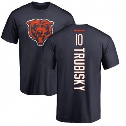 Men's Mitchell Trubisky Chicago Bears Backer T-Shirt - Navy