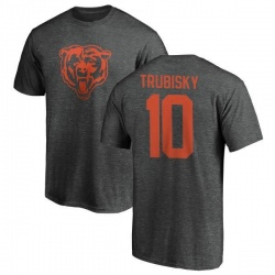 Men's Mitchell Trubisky Chicago Bears One Color T-Shirt - Ash