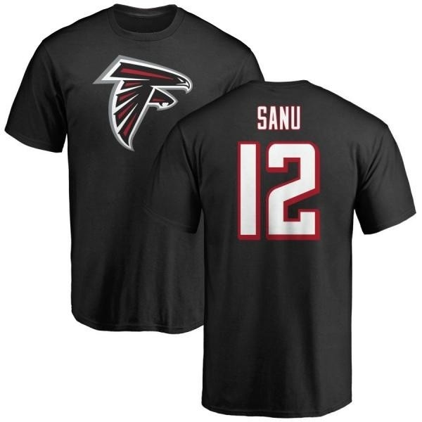 Men's Mohamed Sanu Atlanta Falcons Name & Number Logo T-Shirt - Black