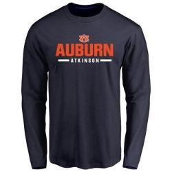 Men's Montavious Atkinson Auburn Tigers Sport Wordmark Long Sleeve T-Shirt - Navy