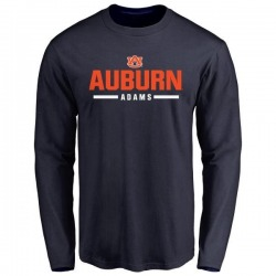 Men's Montravius Adams Auburn Tigers Sport Wordmark Long Sleeve T-Shirt - Navy